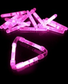 Mini Glowsticks Roze 2st