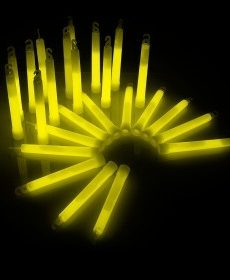 Power Glowsticks Geel 25st