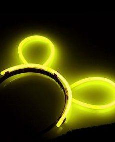 Glow Haarband Geel