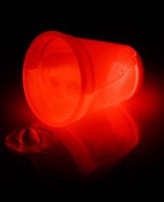 Glow Beker 300ml Rood