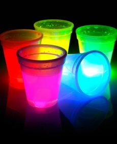 Glow Beker 300ml MIX 4st