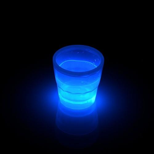 Glow beker 50ml Blauw