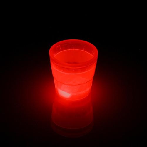 Glow beker 50ml Rood