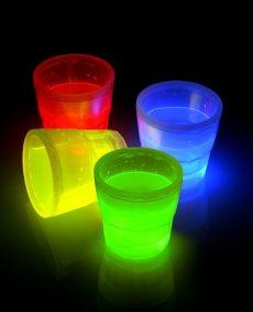 Glow beker 50ml MIX 4st
