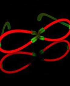 X-glowbril rood