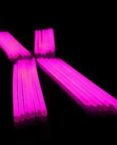 Glowsticks roze 100 stuks