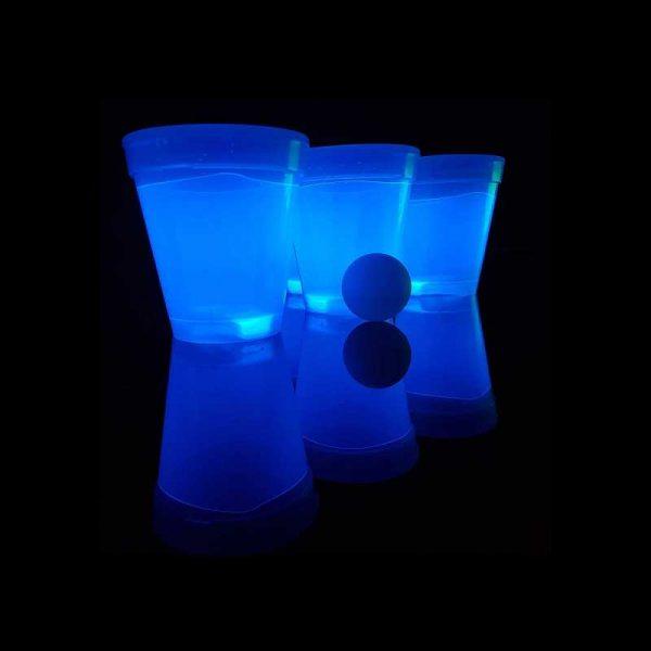 Lichtgevende bierpong-set blauw-groen 1 Bierpong groen blauw 4