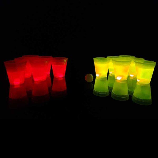 Lichtgevende bierpong-set rood-geel 2 Bierpong rood geel 3