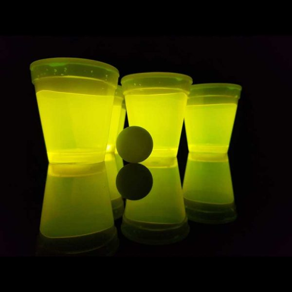 Lichtgevende bierpong-set rood-geel 1 Bierpong rood geel
