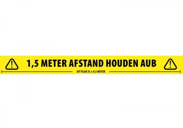 Afstand houden tape 1,5 meter NL 1 Afstand houden
