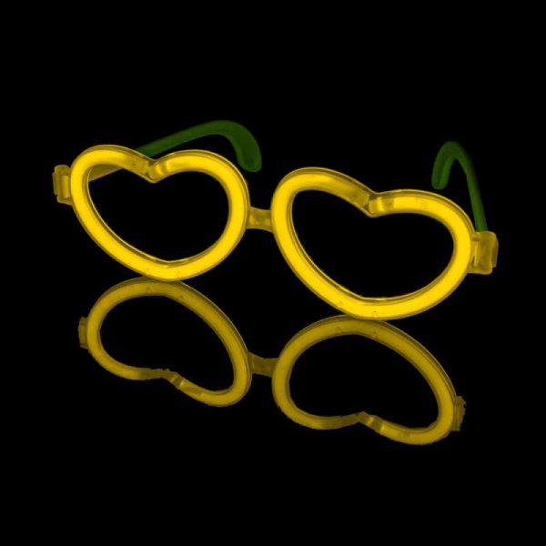 Glow stick hartvormige bril