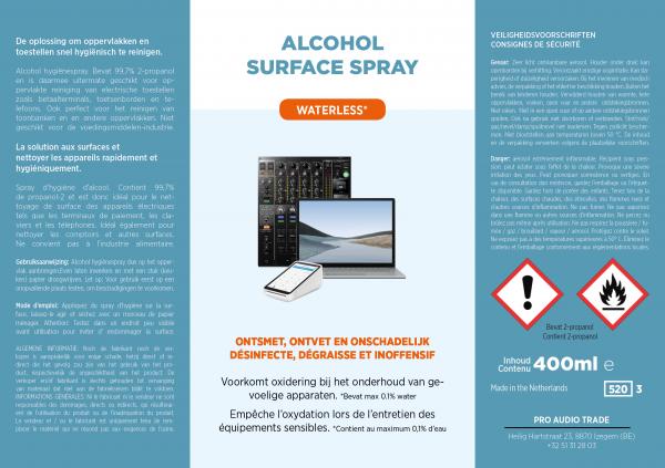 Oppervlakte desinfectie spray 1 label spray 2