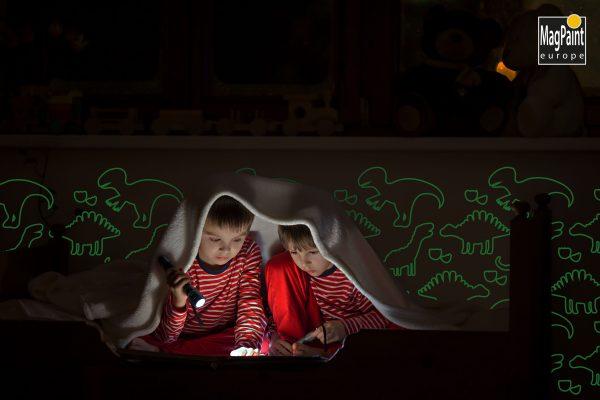 Glow in the dark verf 6 MP GP Slaapkamer Dinosaurussen scaled