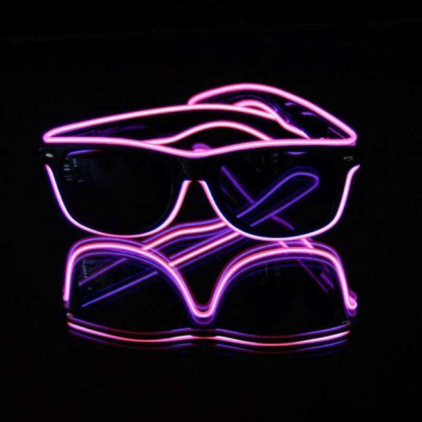 EL wire neon bril 4 Neon bril Roze