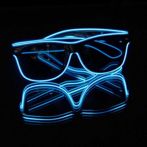 EL wire neon bril 2 Neon bril blauw