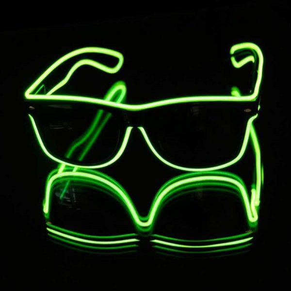EL wire neon bril 1 Neon bril groen